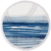 Coastal Calm Water 1- Art By Linda Woods Round Beach Towel