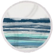 Coastal Calm Water 2- Art By Linda Woods Round Beach Towel