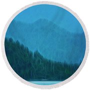 Round Beach Towel featuring the photograph Coastal Life In Alaska by Mike Braun