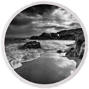Coastal Light  Round Beach Towel