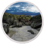 Coastline Castle Round Beach Towel