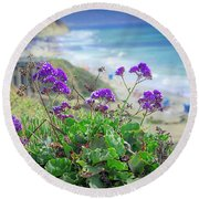 Coastline Color Round Beach Towel
