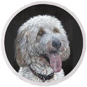 Cockapoo Round Beach Towel