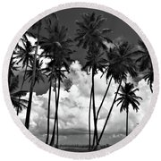 Coconut Trees At Mayaro Round Beach Towel