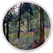 Codbeck Forest Round Beach Towel