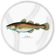 Codfish Round Beach Towel