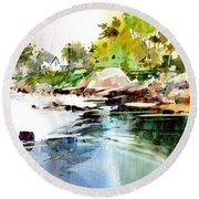 Cohasset Rapids Round Beach Towel
