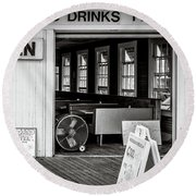 Round Beach Towel featuring the photograph Cold Drinks by Steve Stanger
