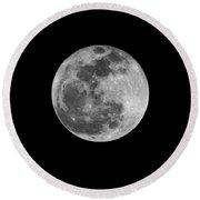Full Cold Moon Round Beach Towel