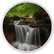 Cold River Round Beach Towel