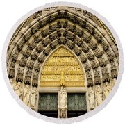 Cologne Cathedral Round Beach Towel