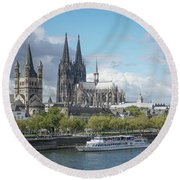 Round Beach Towel featuring the photograph Cologne, Germany by Jim Mathis