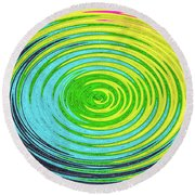 Round Beach Towel featuring the photograph Color Fabric Warp by SR Green