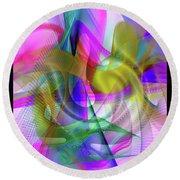 Round Beach Towel featuring the digital art Color Full by Visual Artist Frank Bonilla