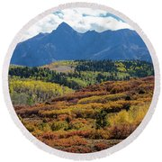 Round Beach Towel featuring the photograph Colorado Color Bonanza by James BO Insogna
