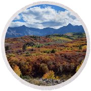 Round Beach Towel featuring the photograph Colorado Color Lalapalooza by James BO Insogna
