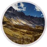 Colorado Mountains Round Beach Towel