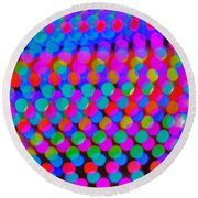 Colored Lights Round Beach Towel