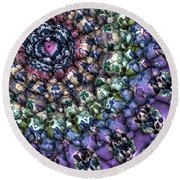 Colorful 3d Surface Round Beach Towel