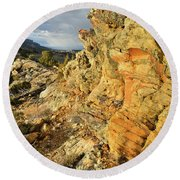 Colorful Entrance To Colorado National Monument Round Beach Towel