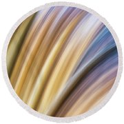 Colorful Flow Round Beach Towel