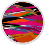 Colorful Reaction Round Beach Towel