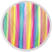 Colorful Striped Round Beach Towel