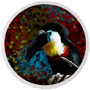Colorful Toucan Round Beach Towel