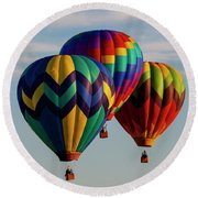Colorful Traffic Round Beach Towel