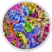 Colors From Nature Round Beach Towel