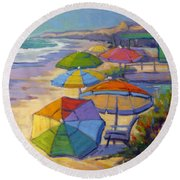Colors Of Crystal Cove Round Beach Towel