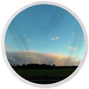 Colossal Country Clouds Round Beach Towel