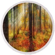Colours Of Nature 02 Round Beach Towel
