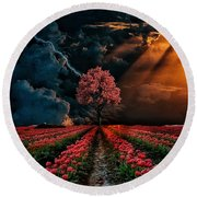 Colours Of The Sky Round Beach Towel