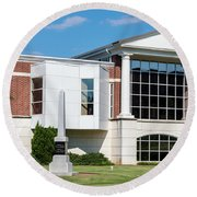 Columbia County Main Library - Evans Ga Round Beach Towel