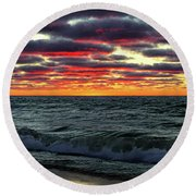 Come Ashore My Love Round Beach Towel