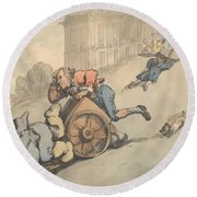 Comforts Of Bath - Gouty Persons Fall On Steep Hill Round Beach Towel