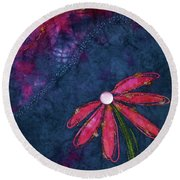 Coneflower Confection Round Beach Towel