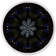 Continuous Christmas Lights Round Beach Towel