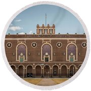 Round Beach Towel featuring the photograph Convention Hall by Steve Stanger