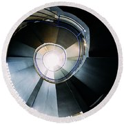 Convoluted Staircase  Round Beach Towel