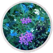 Round Beach Towel featuring the photograph Cool Bouquet by Rosanne Licciardi
