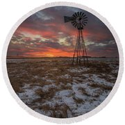 Round Beach Towel featuring the photograph Cool Breeze  by Aaron J Groen
