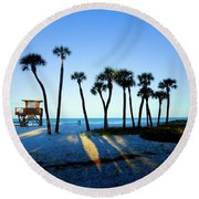 Coquina Palms Round Beach Towel