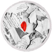 Cosmetic Collage Round Beach Towel