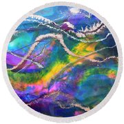 Cosmos Round Beach Towel