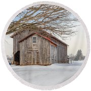 Round Beach Towel featuring the photograph Country Brown by Rod Best