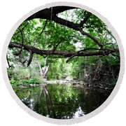 Country Side Scenery Round Beach Towel