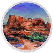 Courthouse Butte Rock - Sedona Round Beach Towel