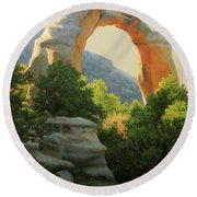 Cox Canyon Arch Round Beach Towel